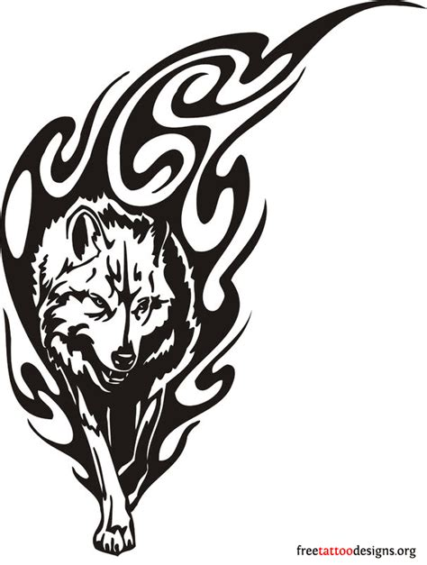 tribal wolf tattoo images wolf tattoos