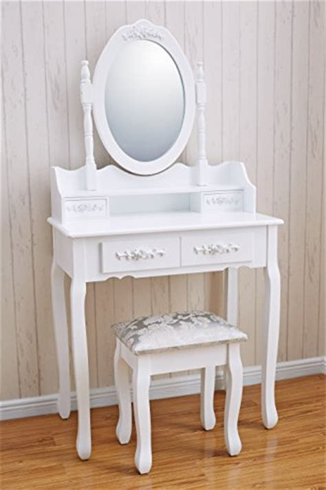 Bedroom Dressing Table White Vienna Dr006 White Dressing Table Stool Mirror Set 5
