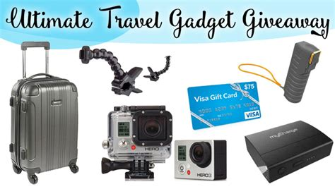 Gadget Show Giveaway - ultimate travel gadget giveaway 800 value