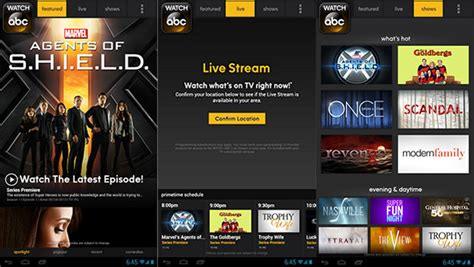 abc app for android abc brings its mobile tv service to android phones jalal