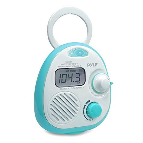 bathroom alarm clock mini waterproof bluetooth music shower alarm clock radio