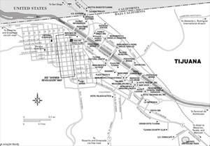 Tijuana Mexico Map by Atlas Tijuana Mexico Map