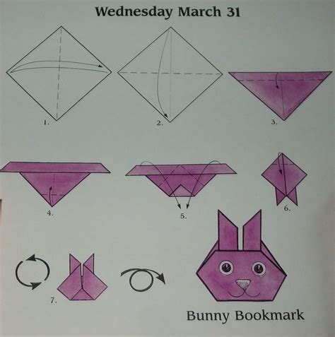 Origami Up Bunny - bunnies photos and bookmarks on