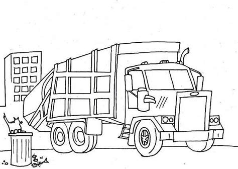 coloring pages for garbage trucks garbage truck semi truck coloring page colour pages