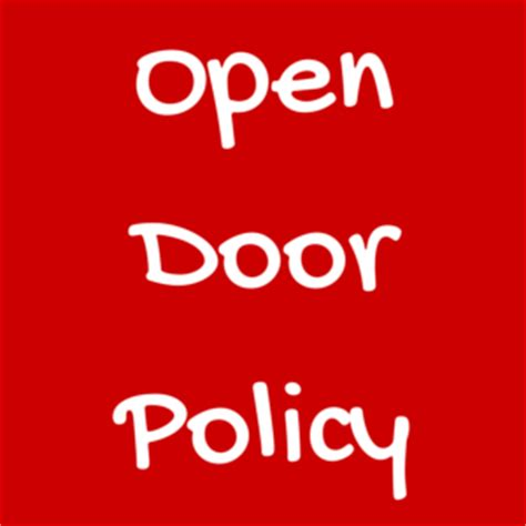 What Is Open Door Policy by Wishing A Happy Day