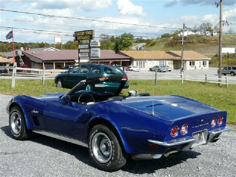 1973 corvette for sale 1973 blue corvette conv