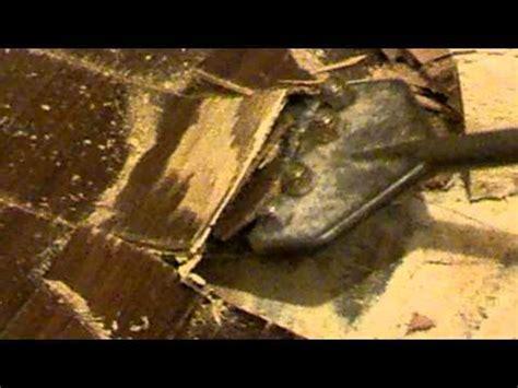 removing glued down engineered hardwood flooring from