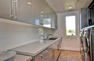 Gloss cabinets laundry room contemporary with grey glossy cabinets