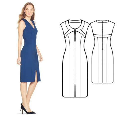 Dress Pattern free dress patterns shaped trim dress my handmade space