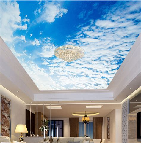 ceiling mural wallpaper aliexpress buy custom ceiling wallpaper blue sky and