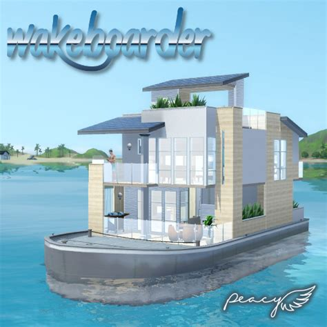 houseboats sims 3 my sims 3 blog wakeboarder houseboat for isla paradiso