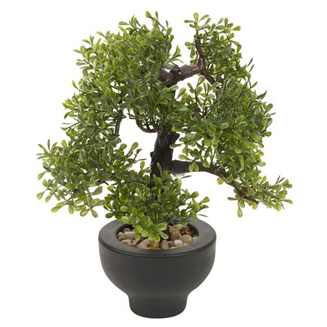 artificial office desk 33cm bonsai tree black plant pot