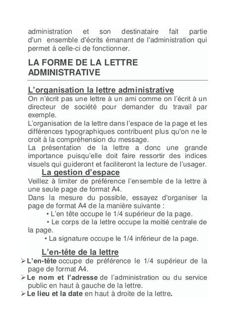 Présentation De La Lettre En Forme Administrative La Lettre Administrative