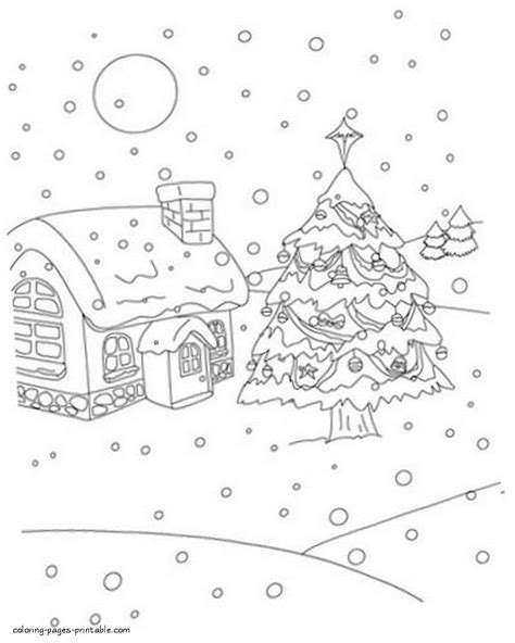 coloring pages christmas village christmas village coloring pages