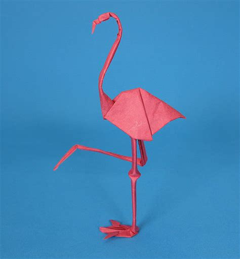 3d Origami Flamingo - origami animals