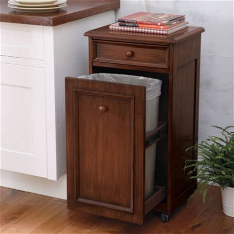 kitchen trash can storage cabinet mobile waste bin grandin road traditional trash cans