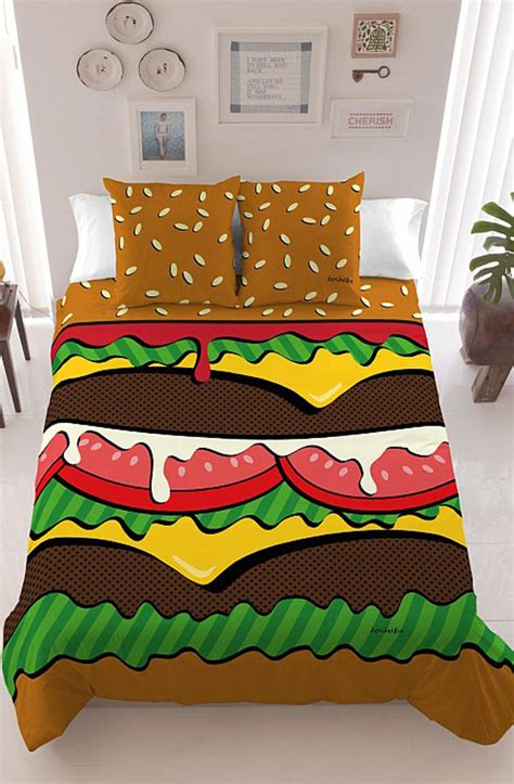 burger bed burger bedding makes midnight snacking easy incredible