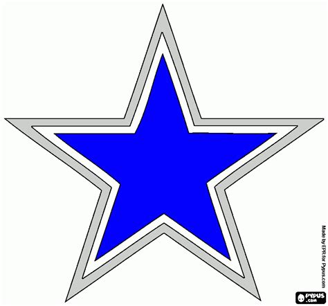 cowboys star coloring page how to draw cowboys star