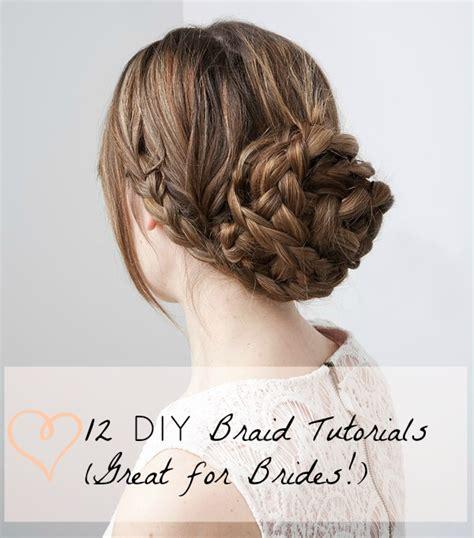 braided hairstyles diy 12 diy braid tutorials great for brides