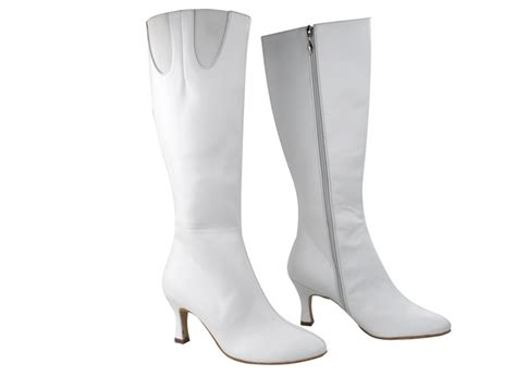 white boots pp205 boots white leather