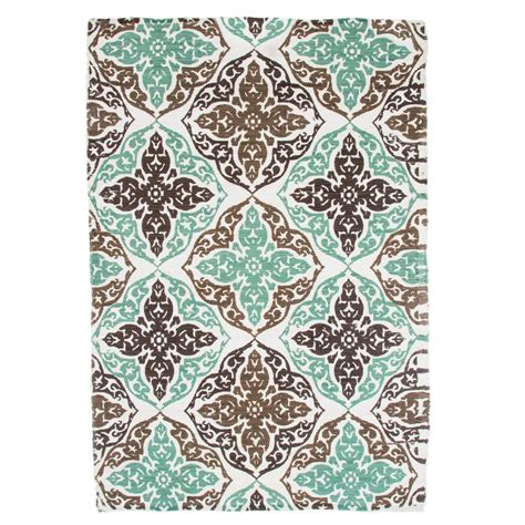 area rugs ta lavish home chindi damask motif taupe 3 5 ft x 5 ft area rug 62 dm ta the home depot