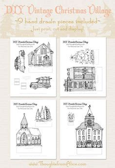 printable christmas village scene links to printable paper nativity scenes creches print