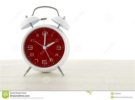 daylight saving time  retro style alarm clock stock
