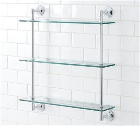 triple glass shelf bathroom mercer triple glass shelf chrome finish traditional