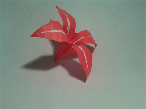 How To Make An Origami Flower Easy For - easy origami flower 2016