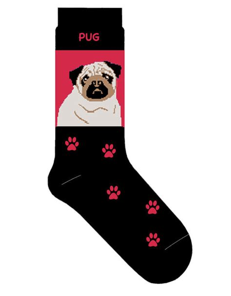 pug socks pug socks lightweight cotton crew stretch