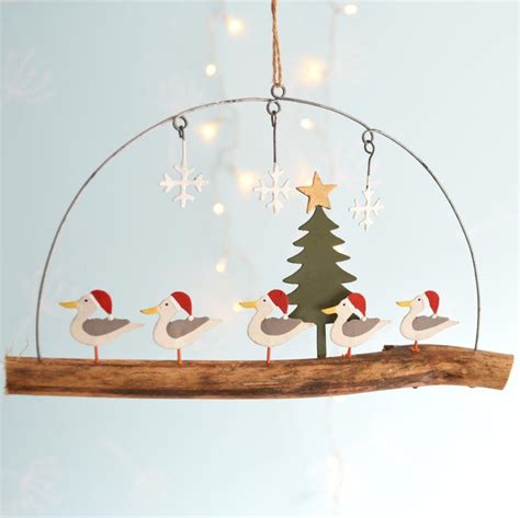 Bathroom Finishing Ideas seagulls on driftwood christmas decoration coastalhome