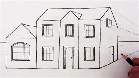 how to draw a house easy one point perspective drawing drawing art gallery