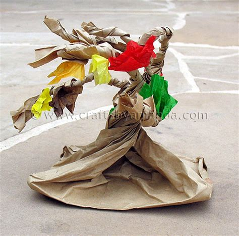 Paper Bag Tree Craft - paper bag tree crafts by amanda