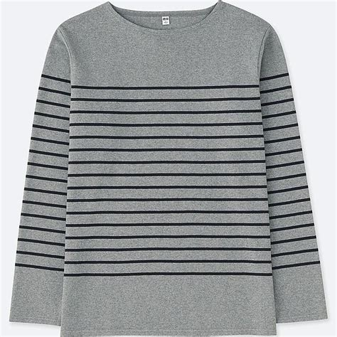 boat neck long sleeve t shirt men washed striped boat neck long sleeve t shirt uniqlo us