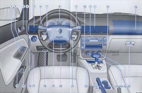 car repair manuals download 2002 volkswagen passat instrument cluster excerpt vw volkswagen owner s manual passat sedan 2002 bentley publishers repair