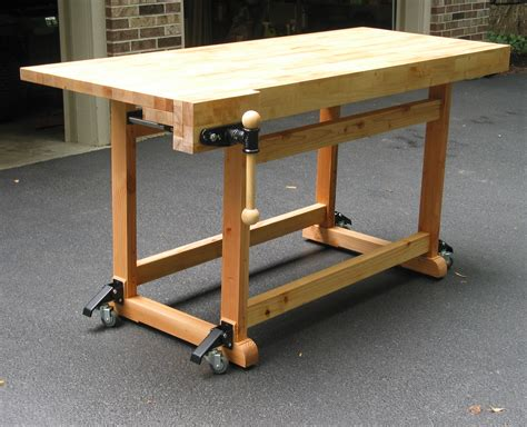 wooden workshop benches build this woodworker s workbench to learn mortise tenon