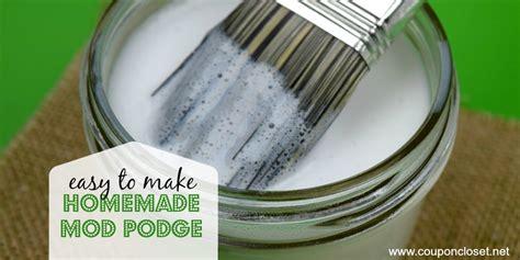 diy mod podge recipe how to make mod podge coupon closet