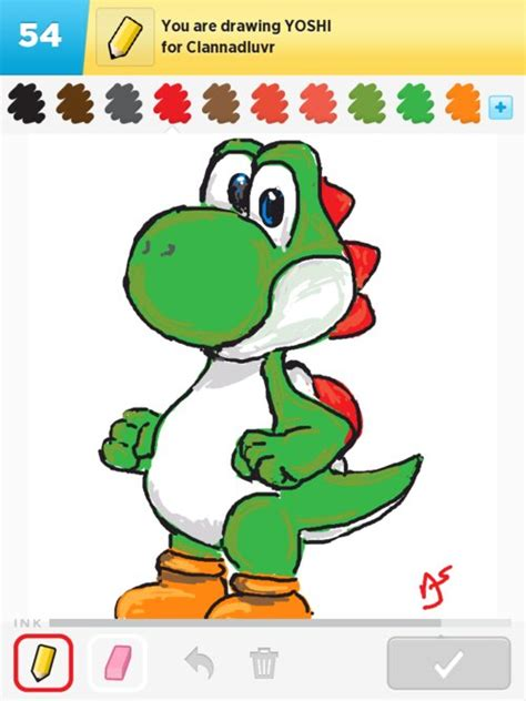Drawing Yoshi by Yoshi Drawings How To Draw Yoshi In Draw Something The