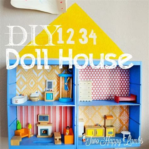 diy dolls house diy doll house two happy lambs diy pinterest
