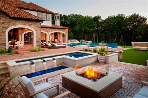 Backyard Retreats Pools And Spas Modern Backyard Retreat Mediterranean Patio Dallas