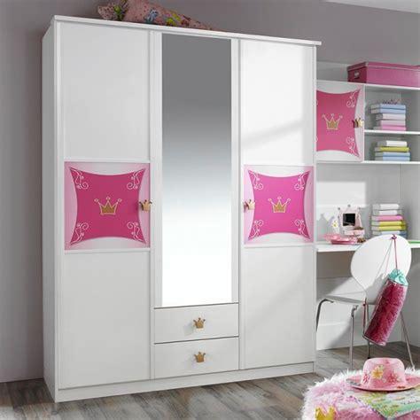 kleiderschrank rosa kleiderschrank zoe wei 223 rosa 3 t 252 ren b 136 cm