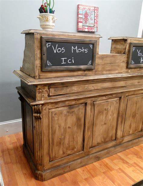 Shabby Chic Reception Desk Antique Store Counter Restaurant Desk Reception Desk Cottage Chic Shabby 2 The