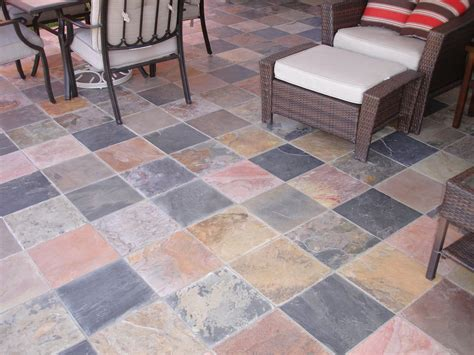 multi colored slate tile floor yelp