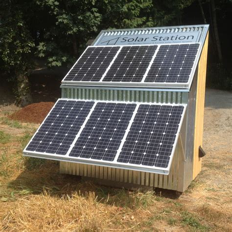 Solar Shed Power by Solar Station Solar Power Equipped Shed Modern Sheds