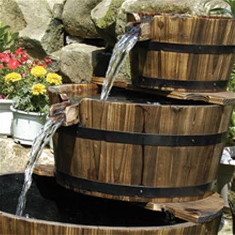 edinburgh wooden barrel garden water feature water