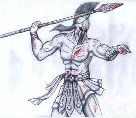 doodle how to make warrior image gallery sparta drawing