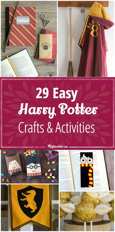 easy harry potter crafts for 29 harry potter crafts activities easy tip junkie