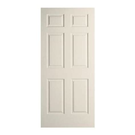 home depot interior slab doors jeld wen 26 in x 80 in woodgrain 6 panel primed molded