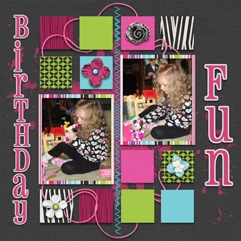 scrapbook layout holder 144 best images about scrap birthday celebrations on