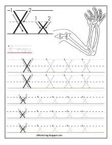 free printable worksheet letter x for your child to learn